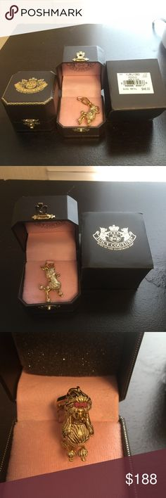 """2007 Juicy Couture """" POODLE """" Rare Charm YJRU1360 Brandnew with tags, charm is in perfect condition, never taken out of the box. Collectible item. Juicy Couture Jewelry Bracelets"""