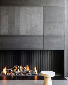 Discover the best fireplace tile ideas. Explore luxury interior designs for your home. Fireplace ceramic tile, surround ideas, design, and pictures Contemporary Fireplace Designs, Contemporary Interior Design, Modern Fireplaces, Modern Contemporary, Contemporary Landscape, Contemporary Apartment, Contemporary Building, Contemporary Cottage, Contemporary Wallpaper