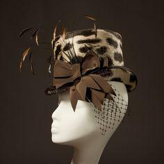 Leopard Print 'Wellington' Mini Top Hat