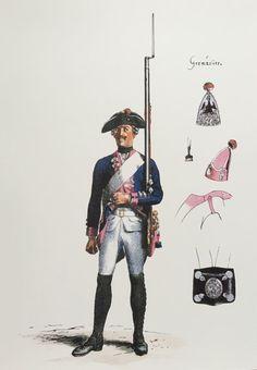 Plate 229. Regiment No. 18. (1806 Regiment des Konigs.) Musketier