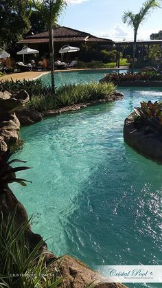 Backyard oasis landscaping beautiful 45 new ideas Luxury Swimming Pools, Natural Swimming Pools, Luxury Pools, Swimming Pools Backyard, Dream Pools, Swimming Pool Designs, Pool Landscaping, Lazy River Pool, Saint Romain