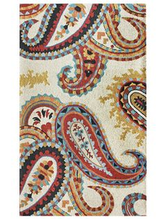 I love these rugs. Retro Paisley Rug in Ivory from the nuLOOM event at Joss & Main! Motif Paisley, Paisley Design, Paisley Pattern, Paisley Print, Wool Area Rugs, Wool Rug, Entry Rug, Red Design, Hand Tufted Rugs