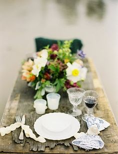 bridal shower tablescapes