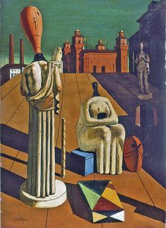 'Le Muse Inquietanti' by De Chirico Wall Art Norman Rockwell, Mondrian, Keith Haring, Picasso, Pop Art, Galerie D'art Moderne, Weird Vintage, Vintage Ideas, Gallery Of Modern Art