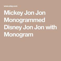 Mickey Jon Jon Monogrammed Disney Jon Jon with Monogram