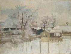 Snow Scene (inspiration from views at Pasmore's home at Hammersmith Terrace) - 1944 - Victor Pasmore