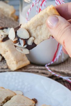 Almond-Shortbread-Cookies6-685x1024 Almond Shortbread Cookies, Sliced Almonds, Almond Flour, Ethnic Recipes, Food, Almond Cakes, Meals, Yemek, Eten