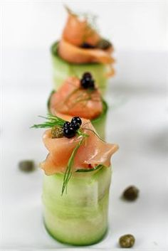 6 Cucumber Roll-Up Recipes: Smoked Salmon and Cream Cheese Cucumber Rolls