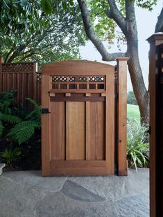 Awesome Art and Crafts Style Ideas for Home Design: Traditional Landscape Wooden Gate Door Transformation Into Craftsman Gem ~ gozetta.com Architecture Inspiration