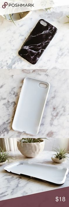 Black Marble iPhone 7 Case This is the Black Marble iPhone Case, it fits the iPhone 7. Material feels like a flexible plastic, harder than silicone but softer than hard plastic! Offers are welcome :) Accessories Phone Cases