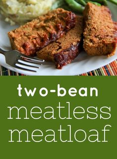 two bean meatless meatloaf (vegan, gluten-free) My Mama's meatloaf is the stuff of legends. Relegated to elementary lunchroom horror stories and sitcom fodder, meatloaf tends to get a bad wrap, but I promise you, my Mama's meatloaf will change the opinion Veg Recipes, Whole Food Recipes, Vegetarian Recipes, Cooking Recipes, Healthy Recipes, Vegan Bean Recipes, Sushi Recipes, Chickpea Recipes, Meatless Meatloaf