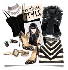 """""""Rocker Chic"""" by judysingley-polyvore ❤ liked on Polyvore featuring Dolce&Gabbana, Balmain"""