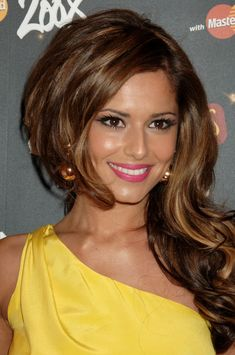 My fav color for brunettes med brown with golden highlights, so warm and flattering!