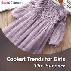 Girls look beautiful in everything they wear. From traditional attires like lehenga and choli to modern dresses like skirts, tops, and denim, girls carry everything in the most elegant manner. Baby Dress Online, Girls Wear, Lehenga, Favorite Color, Tulle, India, Traditional, Cool Stuff, Denim