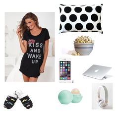 """""""sleep"""" by maximo-barbie ❤ liked on Polyvore featuring Venus, Pillow Decor, Leisureland, Waring, Eos and Beats by Dr. Dre"""