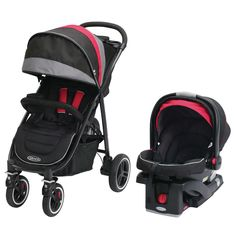 Graco Aire 4 XT Black/ Baby Stroller and Car Seat Travel System