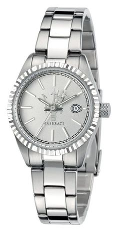 Maserati COMPETIZIONE LADY ZILVER-EDELSTAAL Maserati, Elegant Watches, Casual Watches, Stainless Steel Bracelet, Stainless Steel Case, Down Band, Michael Kors Watch, Rolex Watches, Lady