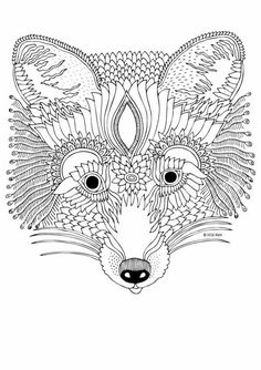 Fox Coloring Pages for Adults Printable