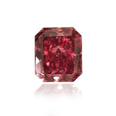 Red Diamond, Radiant, Fancy Purplish Red, 0.46 Carat
