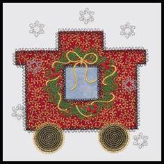 Christmas Train - V-Stitch | OregonPatchWorks