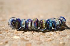 Trollbeads-Azure Bubbles.  I love wearing this bracelet.    Azure Bubbles is my favorite Trollbead.