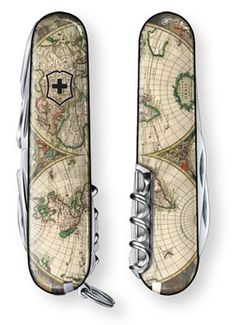 World Map 1689 Swiss Army Knife Victorinox Knives, Victorinox Swiss Army Knife, Tactical Pocket Knife, Tactical Knives, Pocket Knives, Cool Knives, Knives And Swords, Survival Knife, Survival Gear
