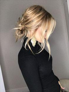Messy Hairstyles, Pretty Hairstyles, Wedding Hairstyles, Teenage Hairstyles, Hairstyles 2018, Hairstyle Ideas, Lob Hairstyle, Summer Hairstyles, Medium Length Blonde Hairstyles