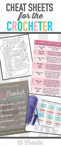 Cheat sheets for crocheter