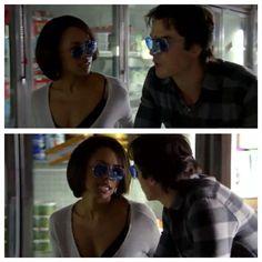 Love Damon and Bonnie in this episode Vampire Diaries, Series Movies, Tv Series, Damon And Bonnie, Bonnie Bennett, Ian Somerhalder, Graham, The Originals, Quotes