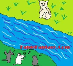 Three Mice and Turkish Van Cat: a fable story for kids online http://fablefantasy.com/short-fable-story-for-children-turkish-van-cat-and-little-mice/