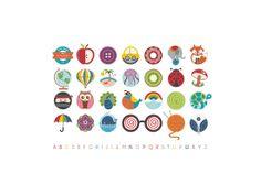 Alphabet in the Round by Lyndsay Johnson for Minted