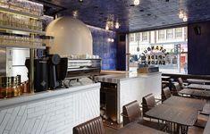 Babaji: Turkish pizza & mezze by Alan Yau, in the most stylish of settings Turkish Restaurant, Chinese Restaurant, Soho, Turkish Pizza, Commercial Lighting, Cafe Interior, Elle Decor, Table Settings, London