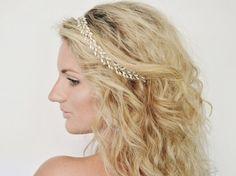 Rice Pearl & Teardrop Crystal Bridal Crown,Pearl Crystal Bridal Wreath,Pearl Crystal Wedding Halo, Wedding Hair Vine, Bridal Headpiece