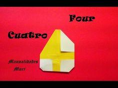 Origami - Papiroflexia. Número cuatro / Number four