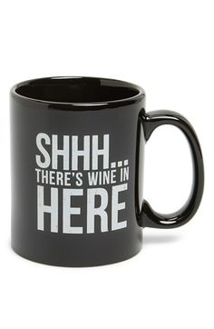 Free shipping and returns on PRIMITIVES BY KATHY 'Shhh' Mug at Nordstrom.com. Although you won't win any awards for stealth while sipping from this mug, you might get a nod for humor.