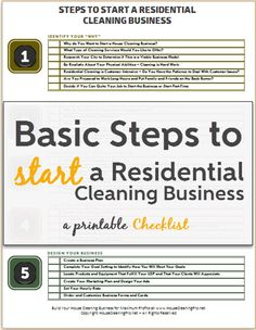 Samples of cleaning business cards business cards custom use these basic steps to start a residential cleaning business free printable checklist reheart Image collections