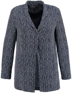 Charmante blazer! De abstracte visgraat druk op vloeiende blouse kwaliteit en de casual cut maken deze blazer een echte fashion favoriet. Sluitingloze...