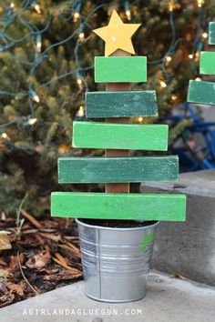 christmas trees made from scrap wood