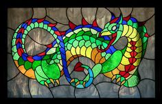 Dragon Stained Glass Patterns | deviantART: More Like Stained glass dragon window by Reptangle