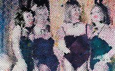 Detail, Sigmar Polke, Bunnies, 1966, acrylic on canvas, 150 x 100 cm / 59 x 39-½ inches (Hirshhorn Museum, Washington D.C.)