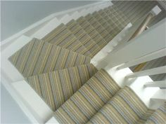 the carpet fitter told us today that a striped carpet can't be fitted on stairs that go around corners... can it?