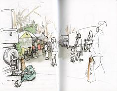 Just Draw It - Sketchcrawl: reporting from Amsterdam