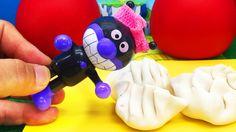 アンパンマン アニメおもちゃ ねんど遊び!バイキンマンのギョーザ屋さん Anpanman Minitoys & Stopmotion Baiki...