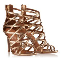 Sandale Dama Aurii 4295 Piele Laminata