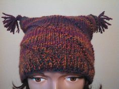 Funky Hand Knit Hat by MadMadameHatter on Etsy