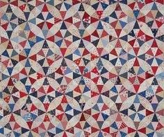 Kaleidoscope - Patriotic Scrap Quilt - 2014.  Inspired by Antique Kaleidoscope pattern in Fons & Porter's Love of Quilting, May/June 2013.