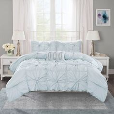 Product Image for Madison Park Harlow 4-Piece Comforter Set in Seafoam 2 out of 5