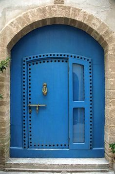 , Blue Door Essaouira Stock Photographs