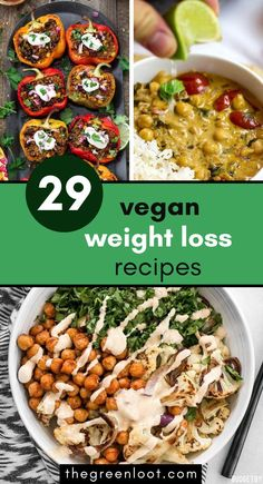 These vegan weight loss dinner recipes will slim you down! They are  perfect as a part of a fat loss diet, for lunch or dinner as they are  delicious and filling. | The Green Loot