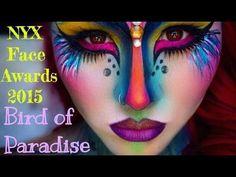 Bird of Paradise Makeup turtorial   NYX Face Awards 2015 - YouTube